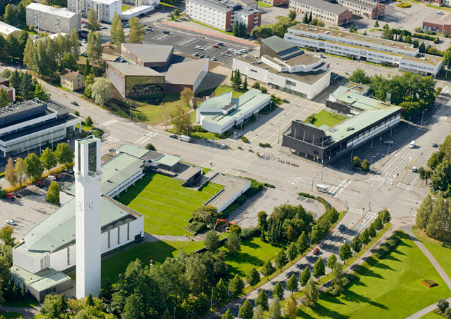 The $13.2-million JKMM building joins a collection of six Aalto works in Seinäjoki's cultural and administrative center.