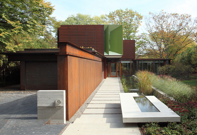 House On Ravine Edge Shim Sutcliffe Architects Slide Show Architectural