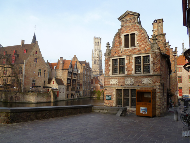 Historic downtown Bruges.