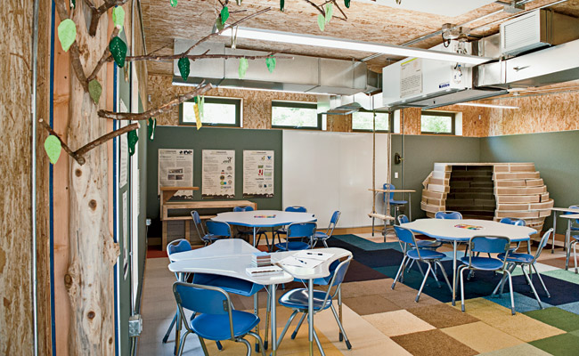 Modular Classroom Makeover by