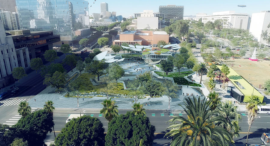 MLA and OMA to Design New Park in Downtown LA