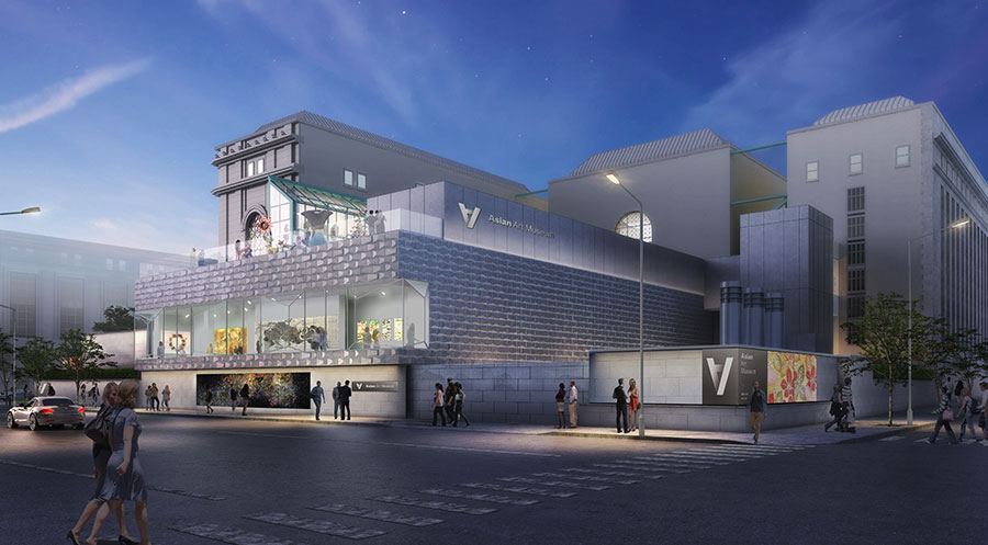 Asian art museum releases renderings of renovation and for Museum craft design san francisco