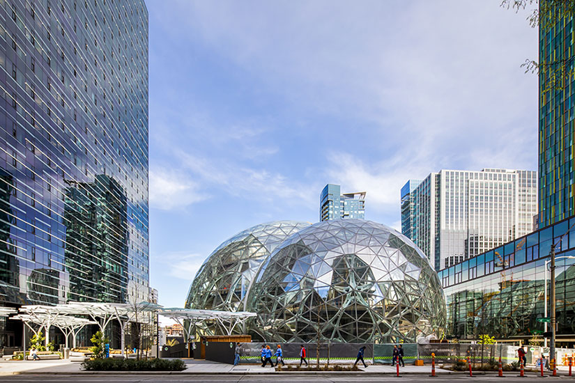 Amazon Spheres Opens In Seattle