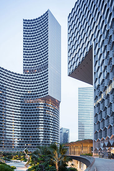 B ro ole scheeren finishes duo twin towers in singapore for Architecture firms in singapore
