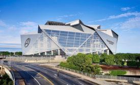 Mercedes-Benz Stadium, the site of Super Bowl 2019