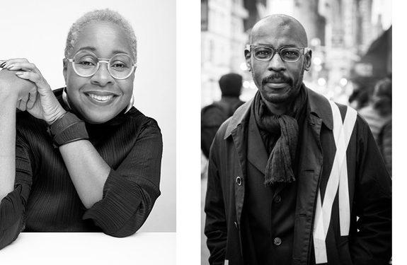 Portraits of three panelists